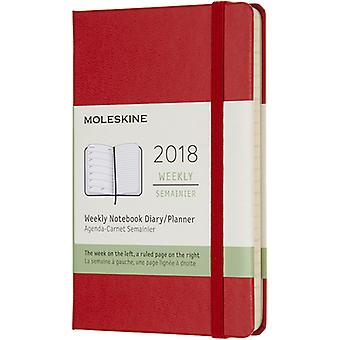 Moleskine 2018 Hard Cover Pocket Weekly Planner 3.5