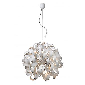 Lucide ATOMA Pendant D90cm 12xG9/33Wexcl. White