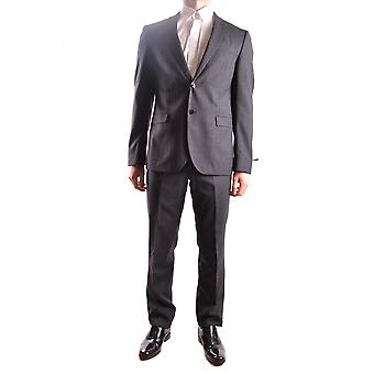 Manuel Ritz men's MCBI325036O grey wool suit