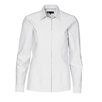 ID Ladies Fitted Slightly Shaped Long Sleeve Button Up Oxford Shirt