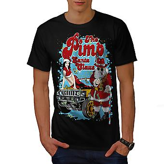 Santa Claus Hot Christmas Men BlackT-shirt | Wellcoda
