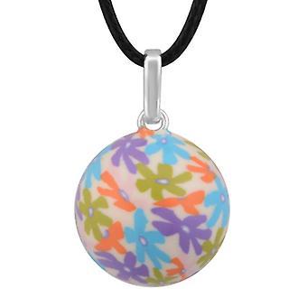 Harmony Ball Handpainted Flower Pendant