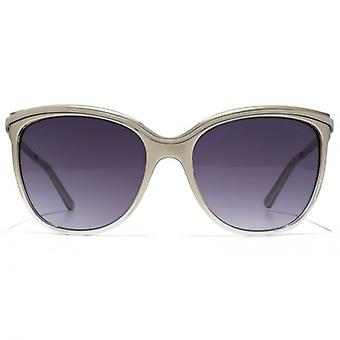 Guess Gradient Cateye Sunglasses In Shiny Beige
