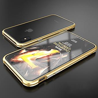 Premium metal shock bumper gold for Apple iPhone X 10 pouch cover case new