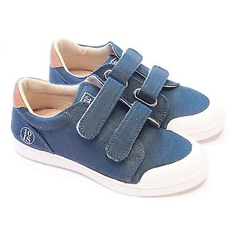 10is Ten Velcro Boys Petrol Blue Canvas Shoe