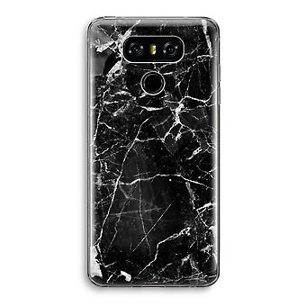 LG G6 Transparent Case - Black Marble 2