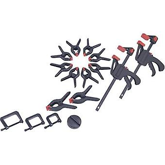 Brüder Mannesmann 16 piece Clamp set 90317 Clamping range:-