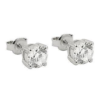 Earrings studs zirconia silver 925