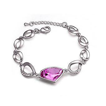 Womens Fashion Bracelet Large Pink Stone