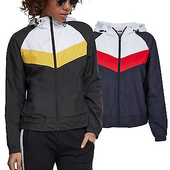 Urban Classics Ladies - 3-Tone Windbreaker Leichte Jacke
