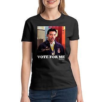 Napoleon Dynamite stemme på mig dame sort Funny T-shirt