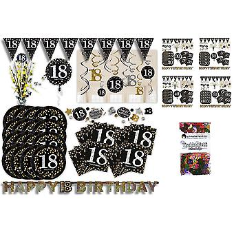 Birthday of glitter party set XL 50-teilig 16 guests glitter decoration party package
