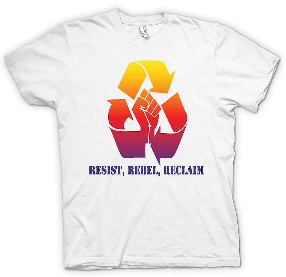 Heren T-shirt-Resist Rebel Reclaim