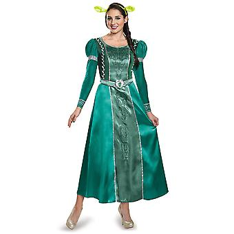 Fiona Deluxe DreamWorks Shrek Princess of Far Far Away Orge Women Costume