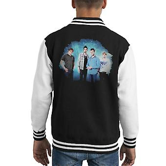 Kasabian Band Portrait Opener Festival Poland 2010 Kid's Varsity Jacket