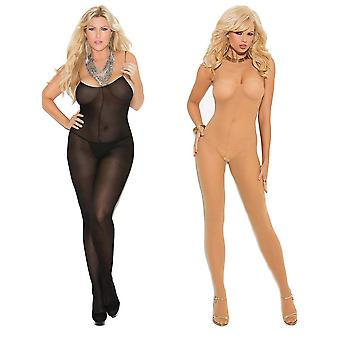 Womens Bodystocking Set - Sexy Spaghetti Strap schier ouvert Body Dessous 2er-Pack