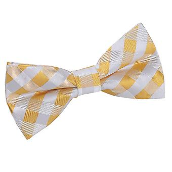 Sunflower Gold Gingham Check Bow Tie