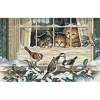 Three Bird Watchers Counted Cross Stitch Kit-14