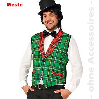 karrierte vest costume mens Jock moderator circus Director mens costume