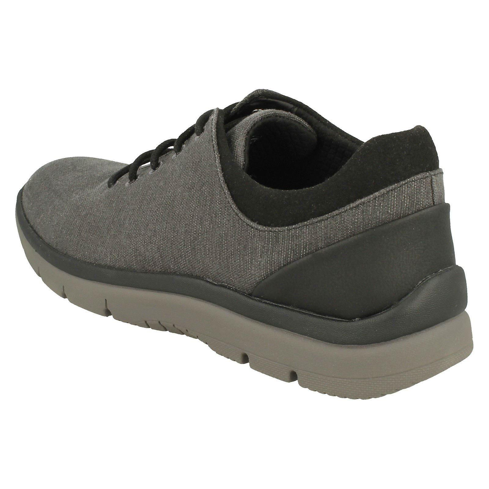 Mens Clarks Casual Textile Lace Up Fastening Trainers /'Tunsil Ace/'