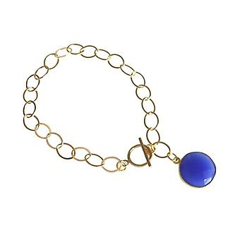 Onyx bracelet gold plated bracelet in Blue Blue Onyx