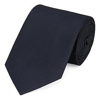 Schlips Krawatte Krawatten Binder 8cm blau schwarz strukturiert Fabio Farini