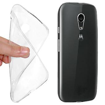 Ultra thin cellphone cover cases TPU for Motorola phone Moto G2 transparent clear