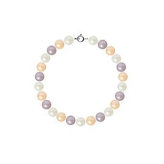 Bracelet Femme Perles de culture d'eau douce Multicolores AA et Fermoir Or Blanc 750/1000