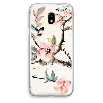 Samsung Galaxy J3 (2017) Transparent Case (Soft) - Japenese flowers