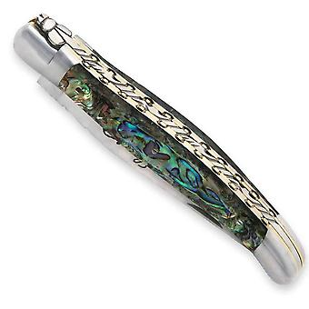 Laguiole knife Abalone handle with double plates Direct from France
