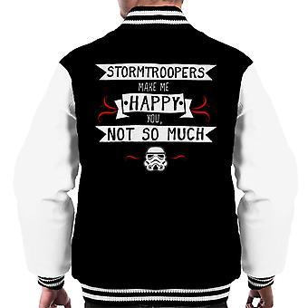 Original Stormtrooper machen mich glücklich Männer Varsity Jacket