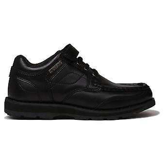 Kangol Kids Harrow Lace Boys Smart Hook and Loop Leather Everyday Shoes