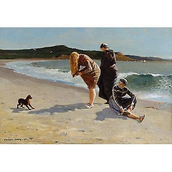Eaglehead, Manchester, Massachusetts, Winslow Homer, 40x60cm mit Tablett
