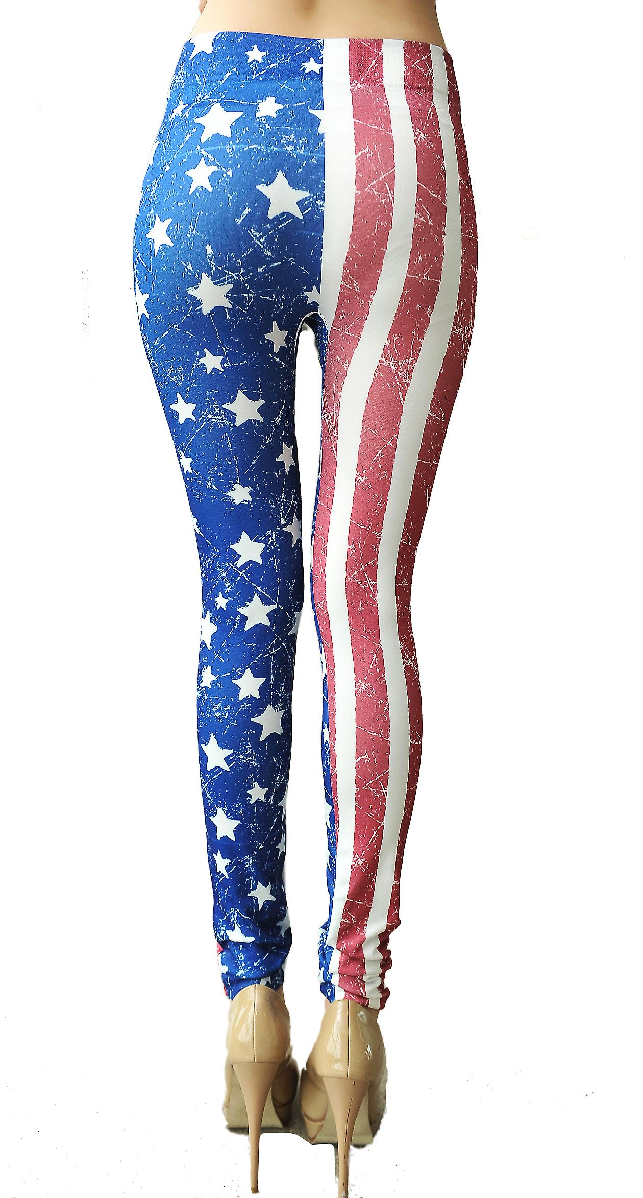 Waooh - Mode - Legging motif drapeau américain vintage