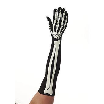 Скелет длинные перчатки