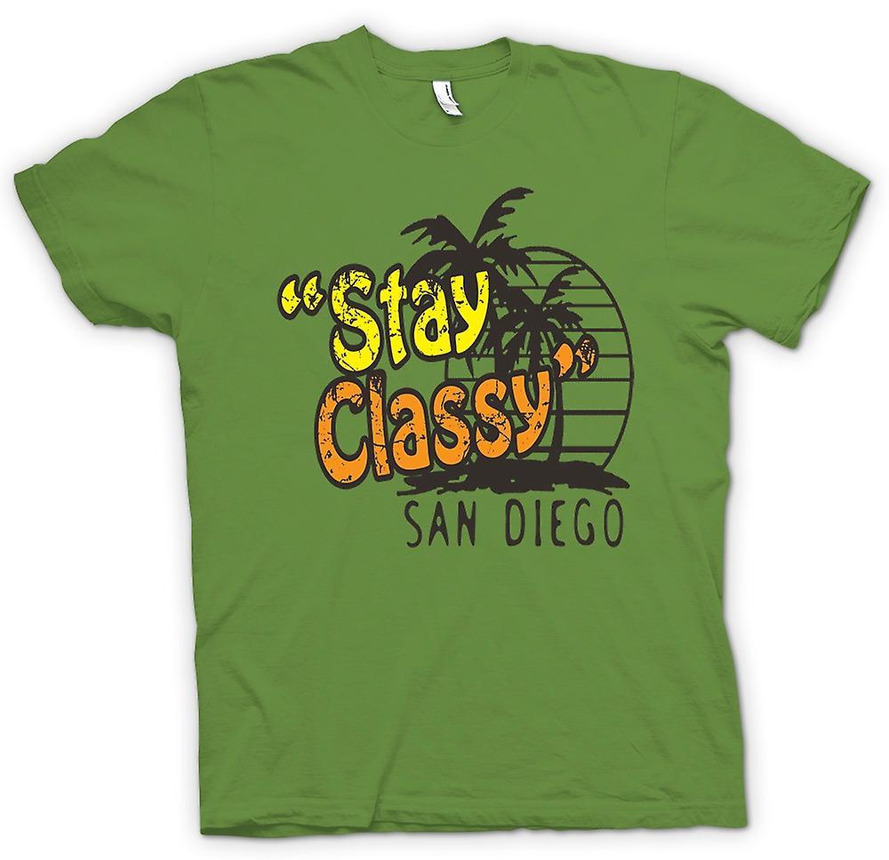 Mens t-shirt - soggiorno elegante San Diego - divertente