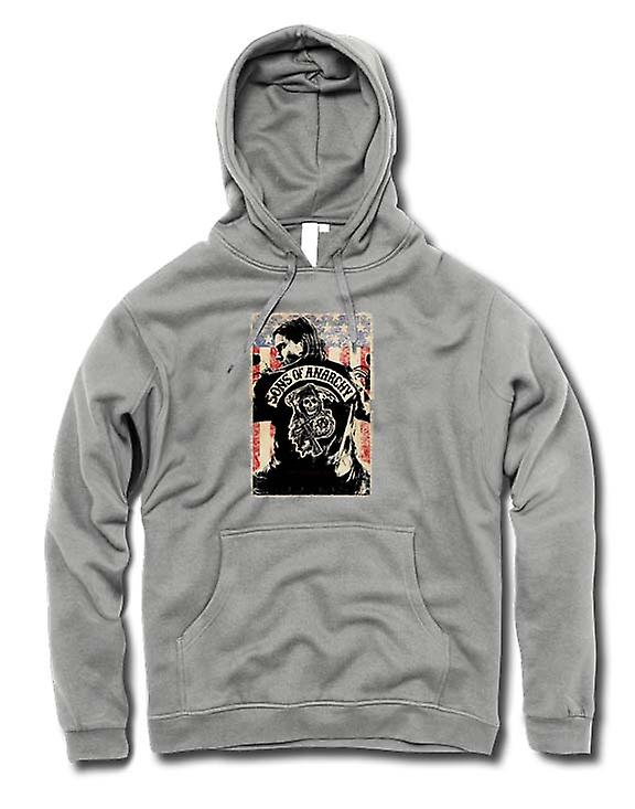 Mens Hoodie - Sons Of Anarchy - Gang di motociclisti - TV Poster