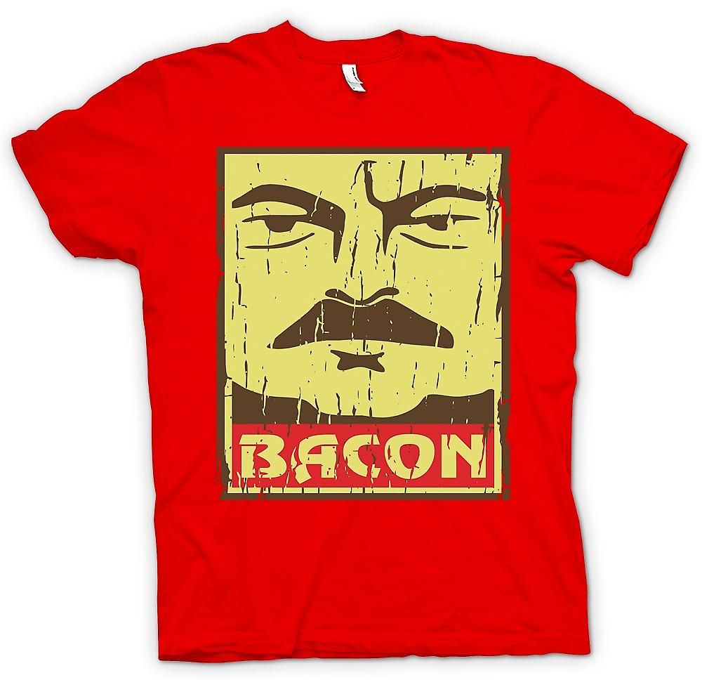 Heren T-shirt - Bacon - Ron Swanson