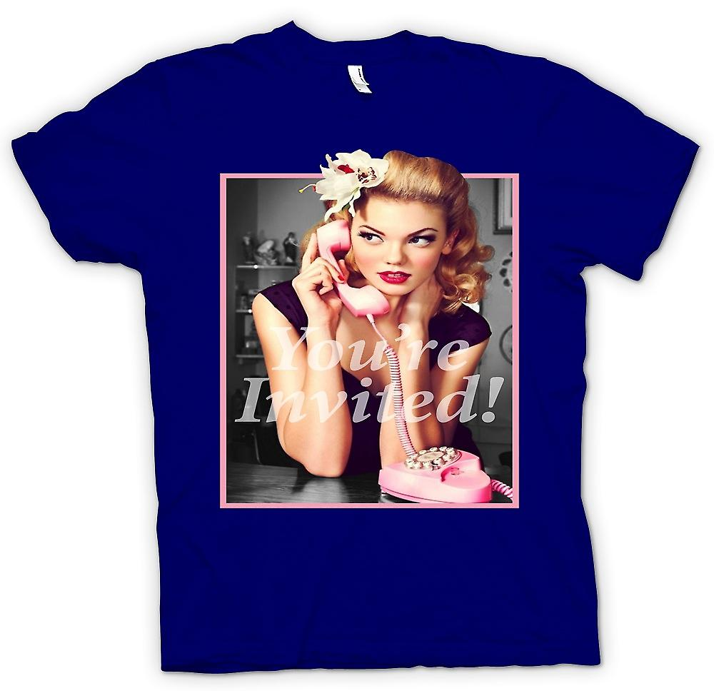 Mens t-shirt - Vintage anni ' 60 Pin Up - il tuo invitati - Retro
