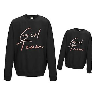 Rose Gold Girl Team Matching Sweater Set