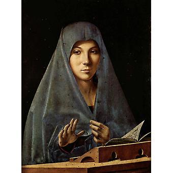 Die Jungfrau Annunciate, Antonello da Messina, 50x40cm