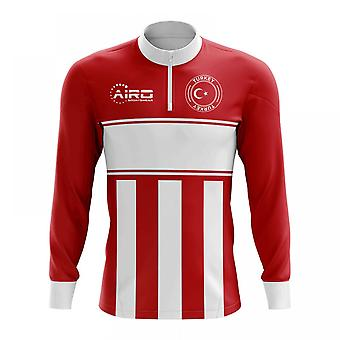 Turkey Concept Football Half Zip Midlayer Top (Red-White)