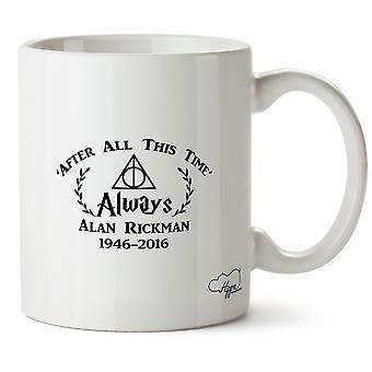 Hippowarehouse Après Tout Ce Temps 'Toujours Alan Rickman 1946-2016Memorial 283,5Gram Mug Cup, Céramique, Blanc, One Size (10oz)