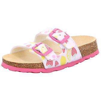 Superfit Girls Tecno 111-11 Sandals White Pink Strawberry