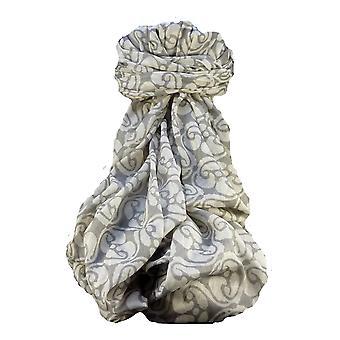 Supersized handvävda Saurshatra bomull halsduk eller stal Kalyanpur mönster av Pashmina & Silk