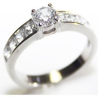 """Präglade med """"jag älskar dig mamma"""" - Ah! Smycken Princess Cut Ring"""