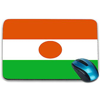 i-Tronixs - Niger Flag Printed Design Non-Slip Rectangular Mouse Mat for Office / Home / Gaming - 0127
