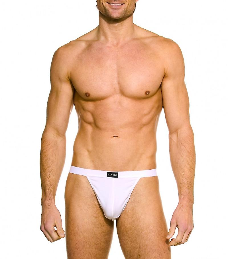 Ami White Thong Stretch Cotton