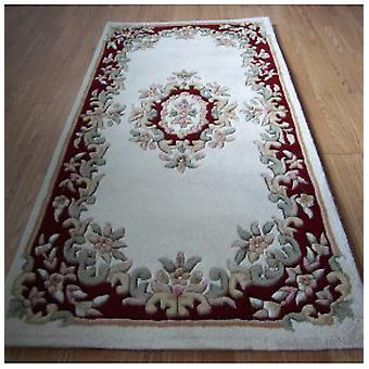 Rugs -Mahal Aubusson - Cream Red