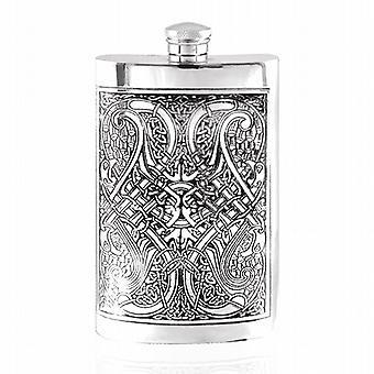 8oz Celtic Knot Flask Pewter - Cel153